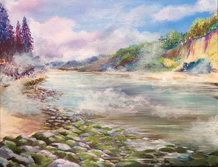 Morning mist on slow river - KaliNN