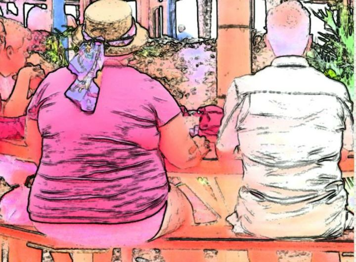 Couple on Bench - R.P. Abrams