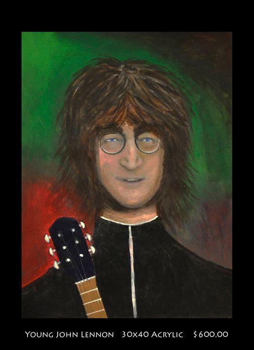Young John Lennon - Robert Barlow Art