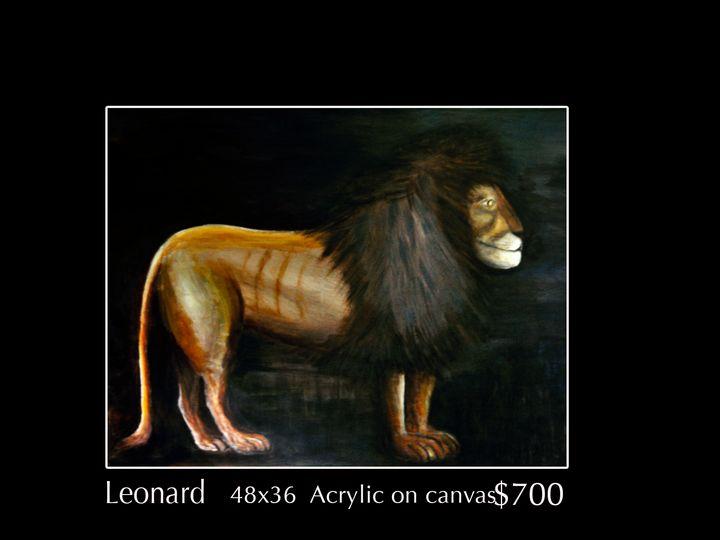 Leonard  the Lion - Robert Barlow Art