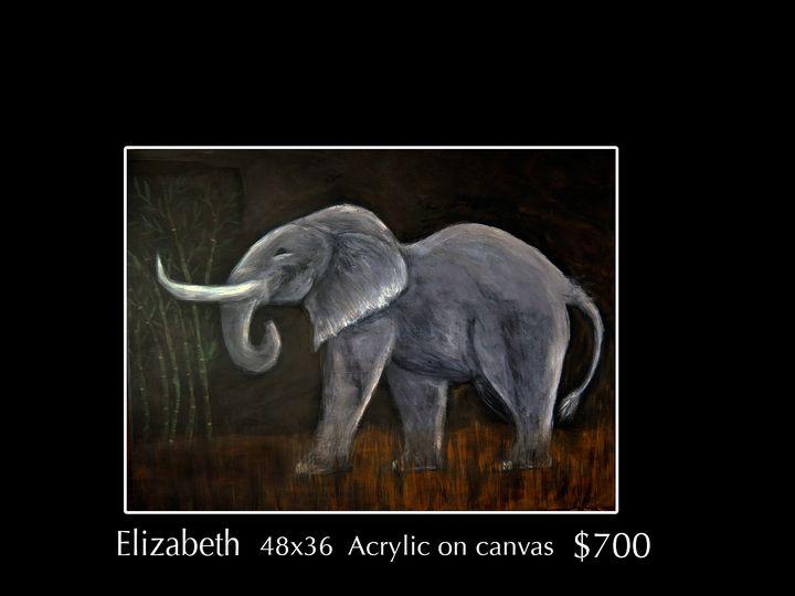 Elizabeth the Elephant - Robert Barlow Art