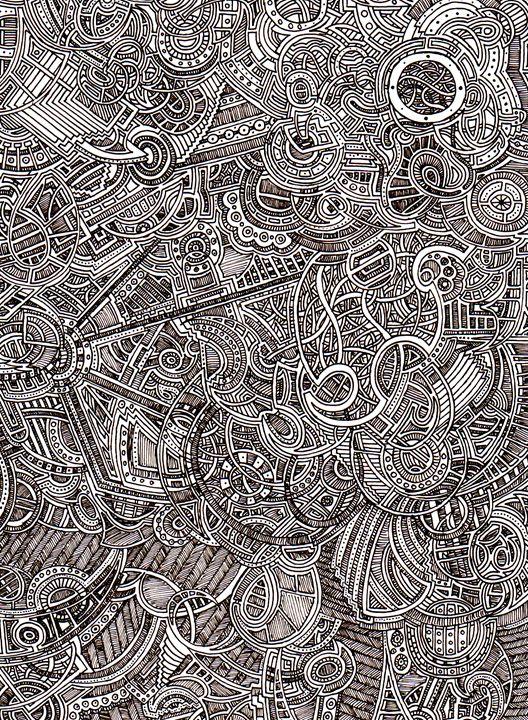 Black and white A4 Pattern - N.Silgram