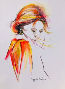 Girl in orange - Virginia Hadfield