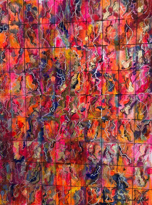 Mosaic in Pink - Virginia Hadfield