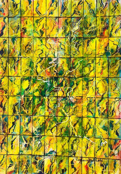 Mosaic in yellow - Virginia Hadfield