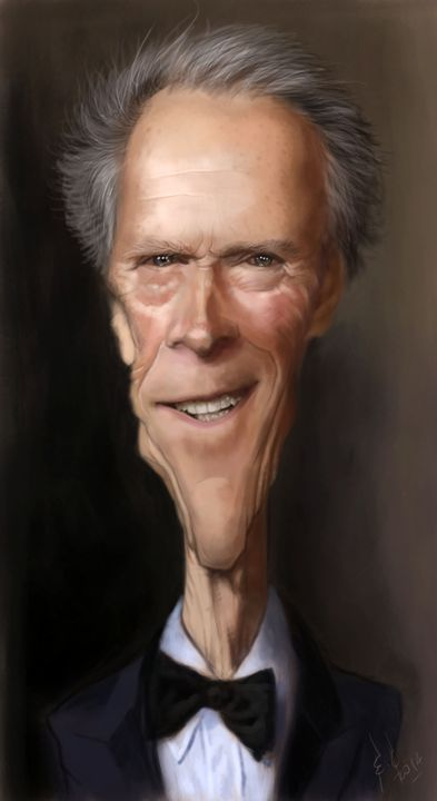 Clint Eastwood - My best caricatures