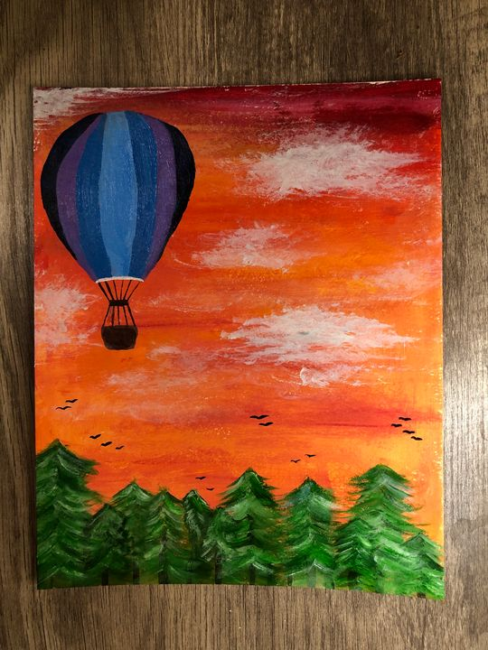 Acrylic sunset - Charity Faith