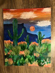 Acrylic Desert