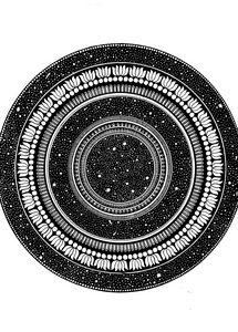 Starry Night Sky Mandala