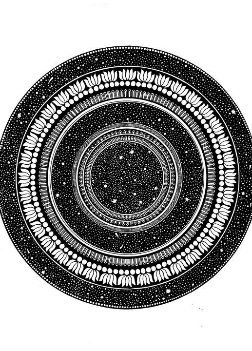 Starry Night Sky Mandala - Sowmya