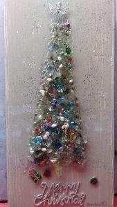 Medium broken glass christmas tree