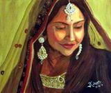 20X15 Indian Bride Acrylic on Canvas
