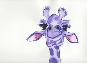 Purple giraffe full size