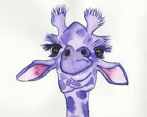 Purple giraffe 8x10
