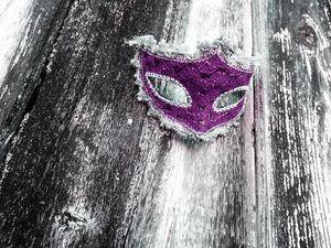 Purple Masquerade Mask - SodStar Creations