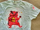 Yummic, painting on t-shirt