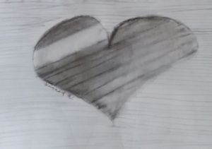 Heart with lines