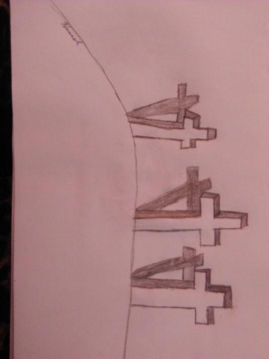Three 3d crosses - Hannah Whitehead