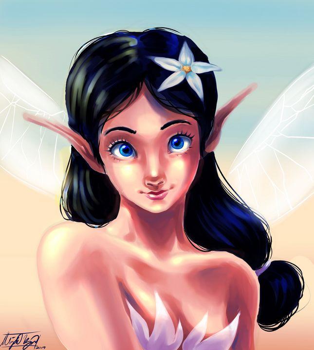 Fairy Girl Portrait - NeonnDreamer