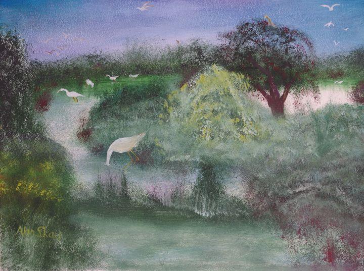 Water birds in the marsh. - Alan Skau