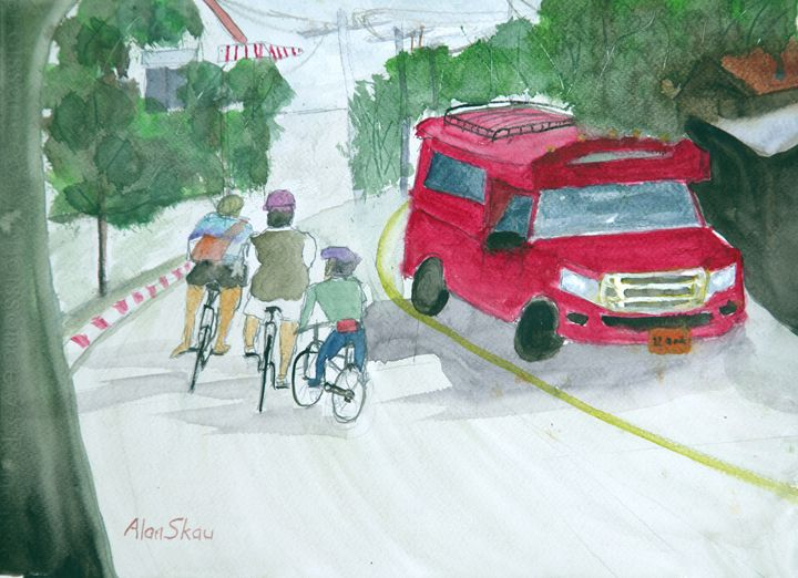 Cycling in Thailand. - Alan Skau