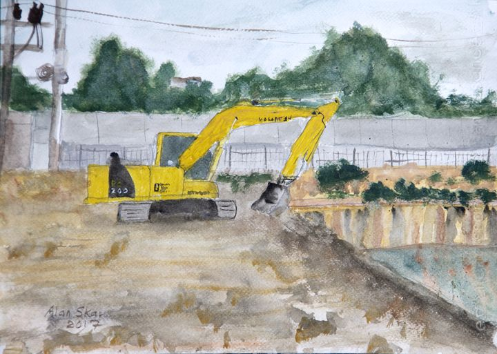 Excavation site. - Alan Skau