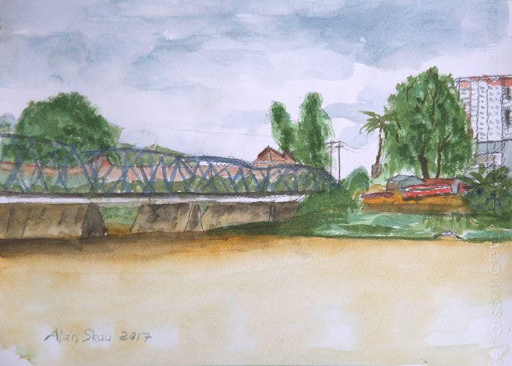 Iron Bridge over the Ping River. - Alan Skau