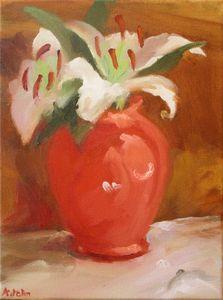 Lilies in vase - Albert John