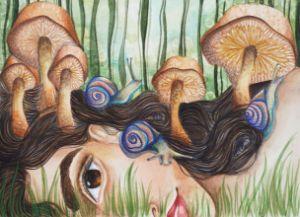 Three Blue Snails - dreamn'whimsy