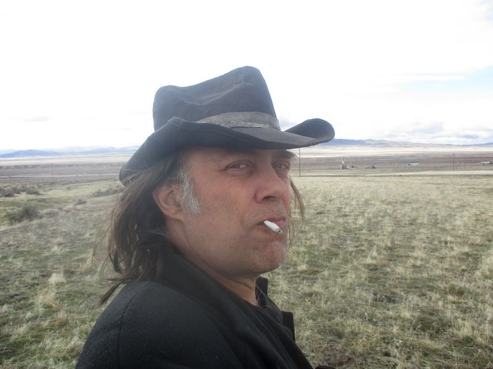 Self-Portrait with Cigarette, Nevada - David Lovins