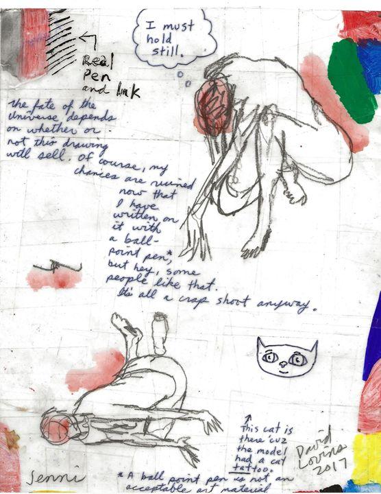 Jenni drawings with my writing - David Lovins