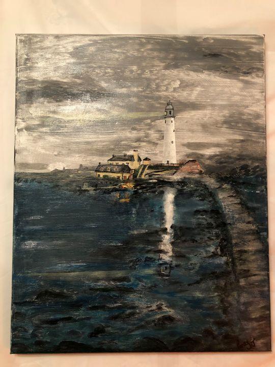 St Mary's lighthouse - Pennyjpaintings
