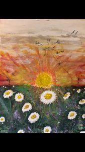 Sunshine on daisy