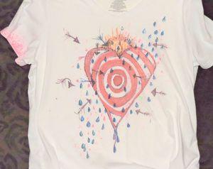 T shirt. The Heart as a target