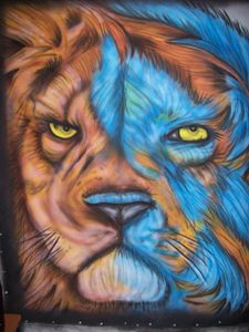Airbrush Lion
