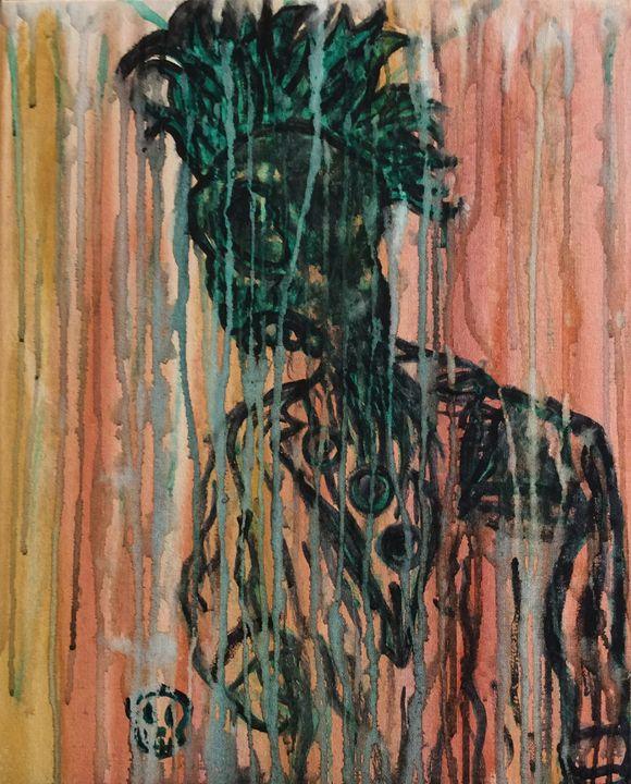 Skull In Suit - JesterMayhoneArt