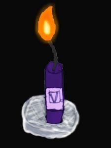 purple lavender candle lit up - Mike M