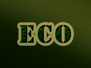 green text on background eco ecology