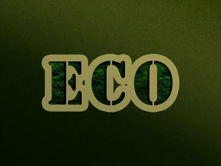 green text on background eco ecology - Anastasia Crown
