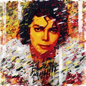 Michael Jackson portrait. Pop art.
