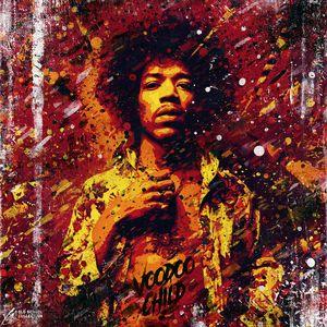 Jimi Hendrix portrait. Voodoo child.