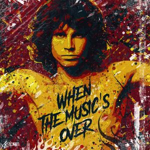 Jim Morrison portrait. Pop art.