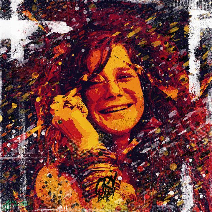 Janis Joplin. Club 27. Pop art. - Yarchy