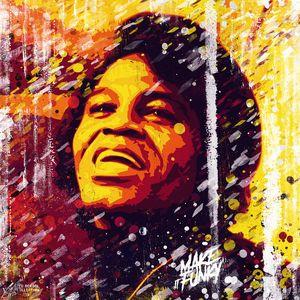 James Brown. Make it funky. Pop art.