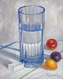 Glass of Water, Tomatoes and Sugar