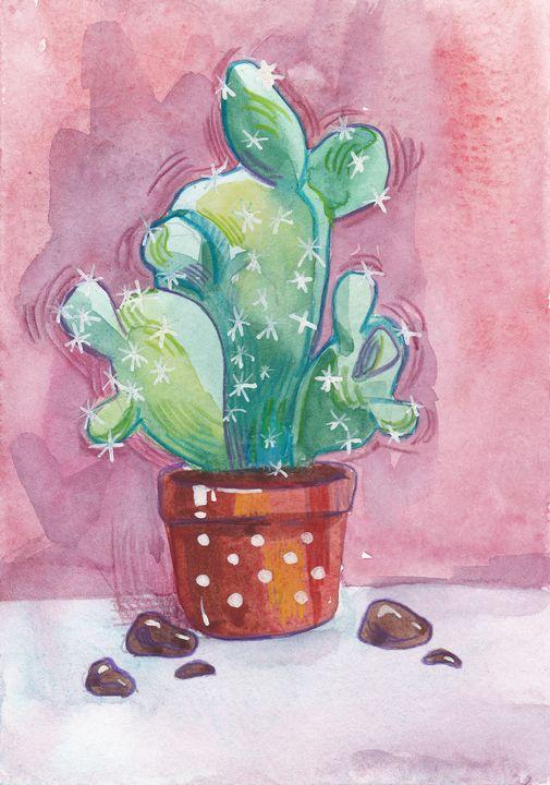 Cute cactus - Ksenia Katastrofa Art and photo