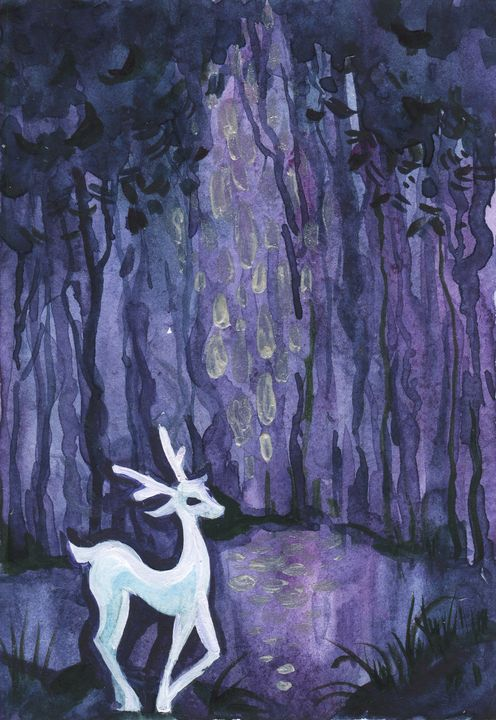 Deer in the forest - Ksenia Katastrofa Art and photo