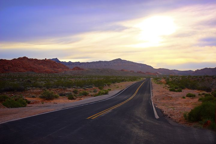 Road Through the Red Rocks - M. Nanna Photography