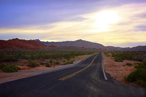 Road Through the Red Rocks
