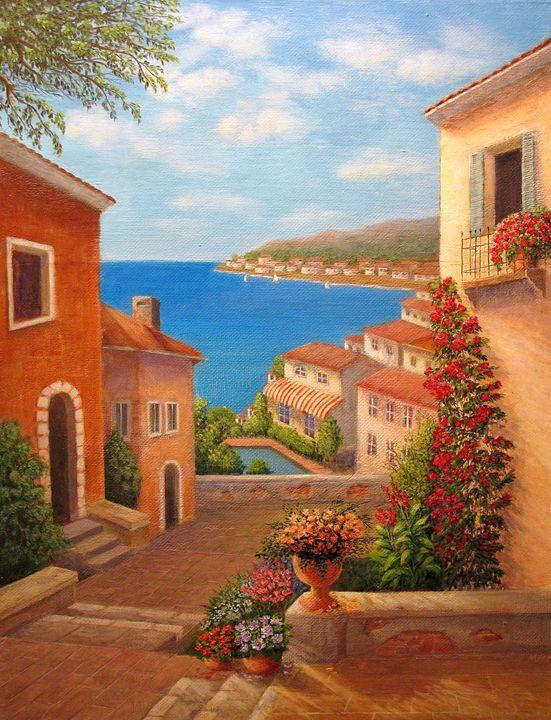 Coastal Town, Italy - Oleg Litvak